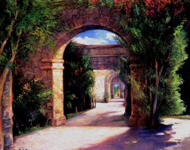 Mexico - Print - Archway - 48x60  unframed canvas $1150. : click to enlarge