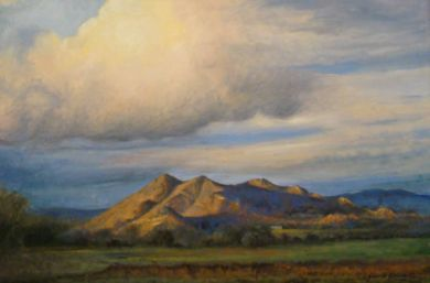SONORAN DESERT - Black Mountain Summer 24x36 oil on canvas $9600: click to enlarge