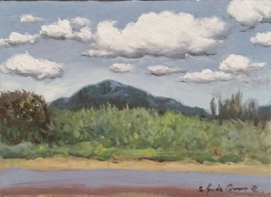 SONORAN DESERT - Desert Afternoon 7 3/8 x 10 3/8 - $600 : click to enlarge