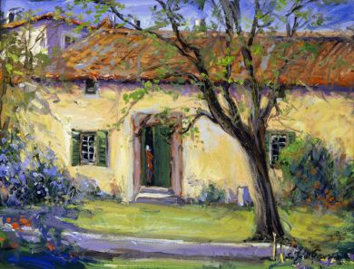 France - Print - Maison de Campagne - 40x50 gallery wrapped canvas $925, also 8x10 $130: click to enlarge