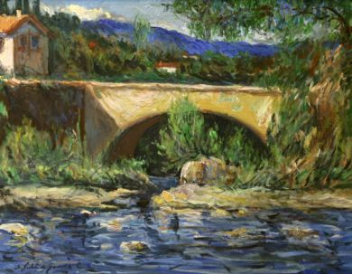 FRANCE - Le Pont 22x28 - $8600: click to enlarge