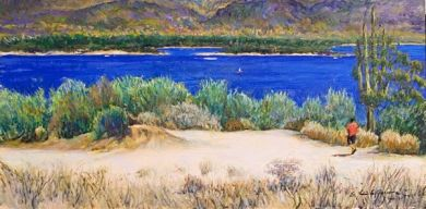 SONORAN DESERT - Path to the Lake 12x24 -  $3500: click to enlarge