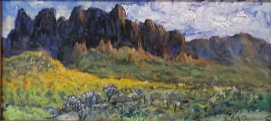 SONORAN DESERT - Superstition Mountains 6x12 - SOLD: click to enlarge