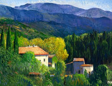 Italy - Print - Umbrian Hills - canvas may be ordered, paper prints available: click to enlarge