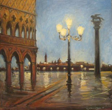 ITALY - San Marco Evening 36x36 - $14,000 : click to enlarge