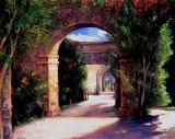 Mexico - Print - Archway - 48x60  unframed canvas $1150.