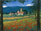 Italy - Print - Artimino Poppies - may be ordered