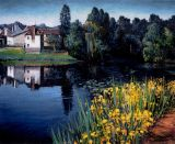 France - Print - Azure Pond - 0 canvas available.