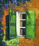France - Print - Volets Verts - 10x8 $130 on canvas