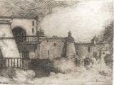 "Etching - Hacienda - 2.5"" x 4"""