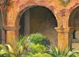 Mexico - Print - Hacienda Garden-  paper prints available