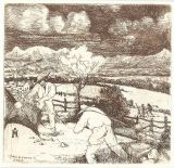 "Etching - The Harvest 4""x 4"""