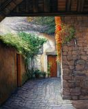Italy - Print - Italian Patio - may be ordered - paper prints available