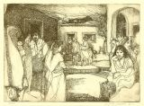 "Etching - La Placita - 5""x 7"""