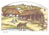 "Etching - Ranchito (color) - 2""x 3.5"""