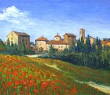 Italy - Print - Tuscan Town - 0 canvas available