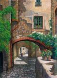 Italy - Print - Tuscan Archway - canvas print may be ordered - paper print $75