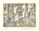 "Etching - Spanish Village 1.5""x 2"""