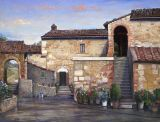 Italy - Print - Tuscan Country House - 24x32 canvas $805 -  paper print available $75.
