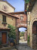 Italy - Print - Tuscan Courtyard - 60x48 gallery wrap canvas print available $2100: also 40x30  $1140.