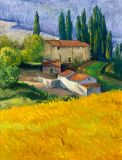 Italy - Print - Tuscan Farm - canvas print 40x30 with gallery wrap edge $1140 - paper prints available