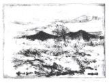 Etching - View of the Desert drypoint