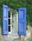 France - Print - Volets Bleus - canvas may be ordered, paper print available.